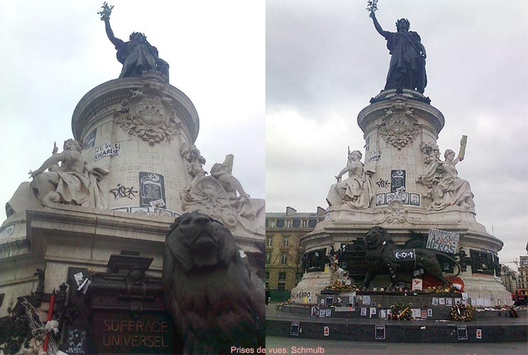 Place de la République à Paris